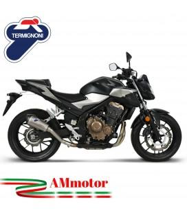 Termignoni Honda CB 500 F / R / X Terminale Di Scarico Moto Marmitta Relevance Titanio