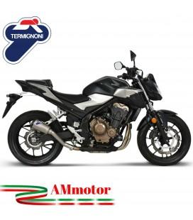 Termignoni Honda CB 500 F / R / X Terminale Di Scarico Moto Marmitta GP2R-RHT Titanio