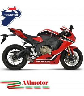 Termignoni Honda Cbr 1000 RR 17 - 2019 Terminale Di Scarico Moto Marmitta Relevance Titanio