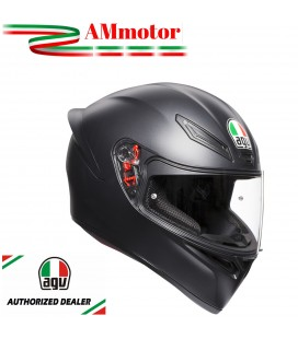 Casco Agv K1 Solid Black Matt Integrale Nero Opaco Moto