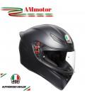 Casco Agv K1 Solid Black Matt Integrale Nero Opaco Moto