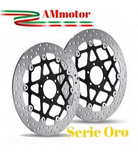 Dischi Freno Aprilia Tuono V4R Aprc Abs Brembo Serie Oro Anteriori Flottanti Coppia Moto