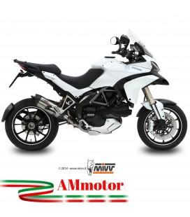 Mivv Ducati Multistrada 1200 Terminale Di Scarico Moto No Kat Marmitta Suono Inox
