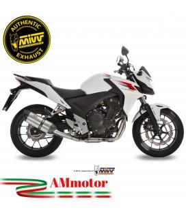 Mivv Honda Cb 500 F / X Terminale Di Scarico Moto Marmitta Suono Inox Omologato