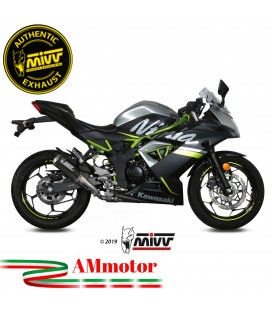 Mivv Kawasaki Ninja 125 Terminale Di Scarico Moto Marmitta Mk3 Carbonio