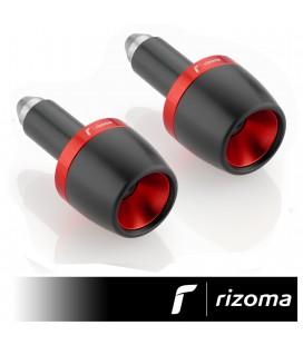 Terminali Manubrio Moto Rizoma Conico Contrappesi Bilancieri Nero Rosso