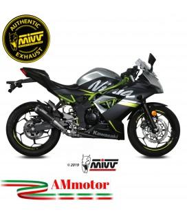 Mivv Kawasaki Ninja 125 Terminale Di Scarico Moto Marmitta Mk3 Black