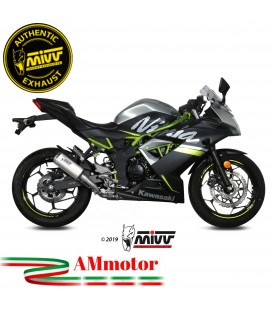 Mivv Kawasaki Ninja 125 Terminale Di Scarico Moto Marmitta Mk3 Inox