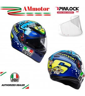 Casco Agv K3 Sv Top Misano 2015 Valentino Rossi Doppia Visiera Max Pinlok