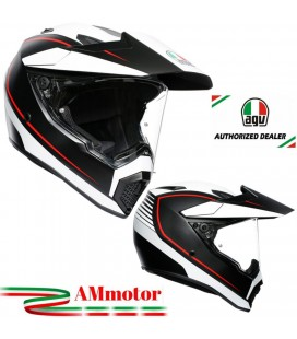 Casco Agv AX9 Pacific Road Matt Da Moto Integrale In Carbonio Visiera Max Pinlock Touring