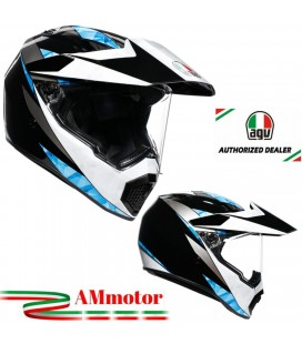 Casco Agv AX9 North Black White Da Moto Integrale In Carbonio Visiera Max Pinlock Touring