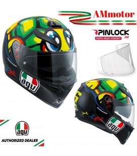 Casco Agv K3 Sv Top Tartaruga Valentino Rossi Doppia Visiera Max Pinlok