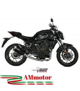 Scarico Completo Mivv Yamaha Mt-07 Terminale Delta Race Black Moto Alto