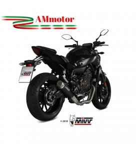 Scarico Completo Mivv Yamaha Mt-07 Terminale Gp Pro Black Inox Nero Moto Alto