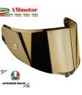 Visiera Agv Pista Gp RR Race 3 Iridium Gold Specchio Oro Casco Integrale Moto