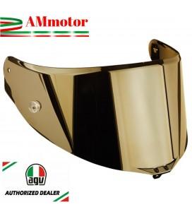 Visiera Agv Pista Gp R Race 3 Iridium Gold Specchio Oro Casco Integrale Moto