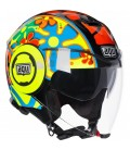 Casco Agv Fluid Top Valencia 2003 New Jet Doppia Visiera