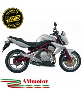 Mivv Kawasaki ER-6N / F Terminale Di Scarico Moto Marmitta Oval Carbonio