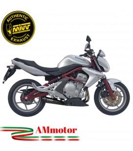 Mivv Kawasaki ER-6N / F Terminale Di Scarico Moto Marmitta X-Cone Inox Black