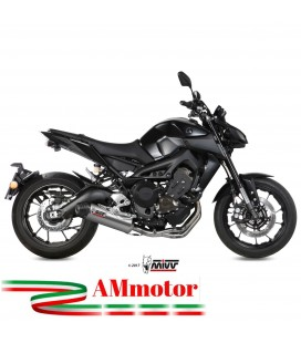 Scarico Completo Mivv Yamaha Mt-09 Terminale Oval Titanio Carbon Cap Moto