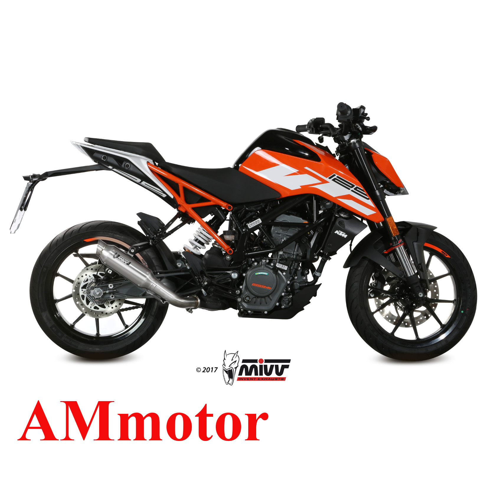 auspuff motorrad mivv ktm 125 duke 2017 17 endtopf m2. Black Bedroom Furniture Sets. Home Design Ideas
