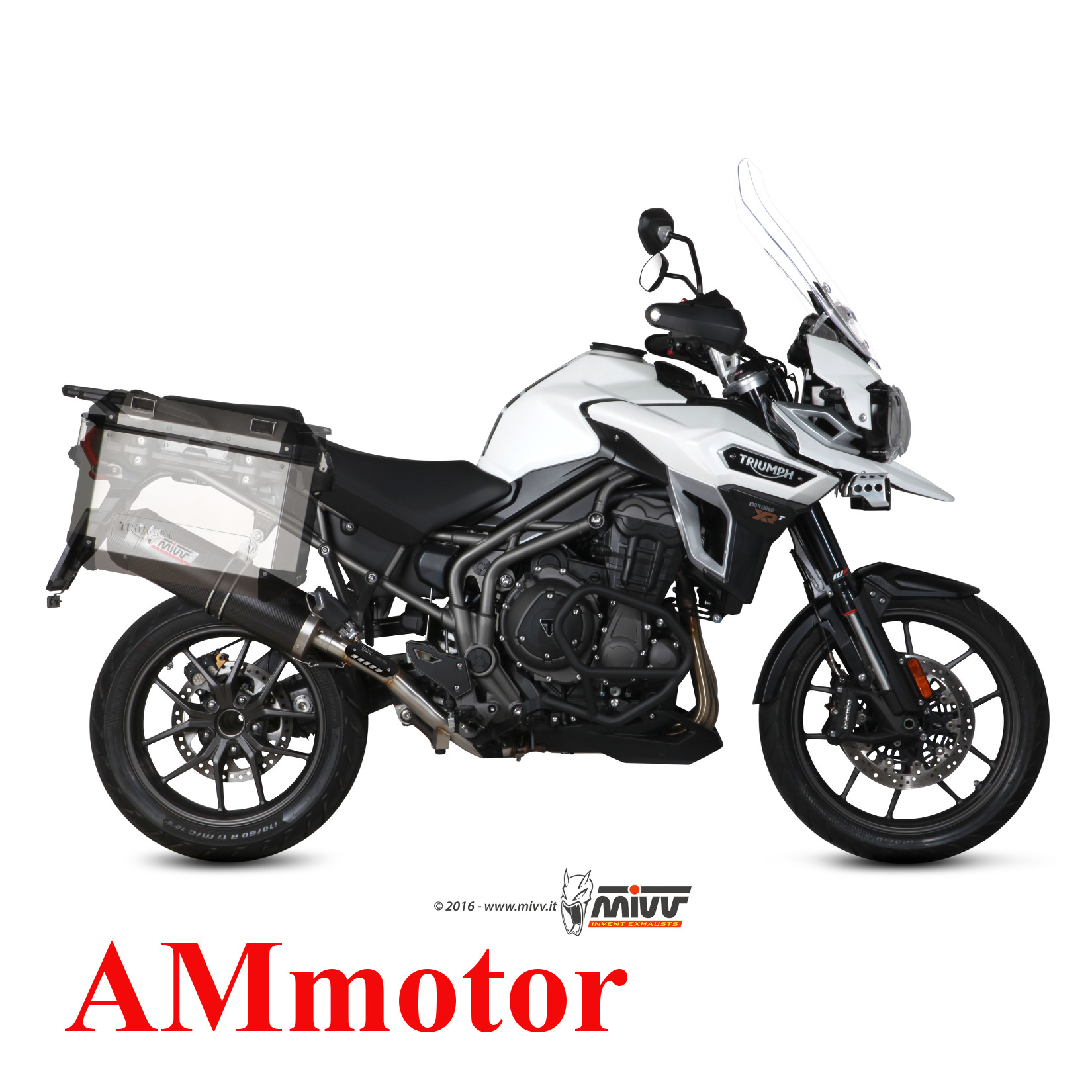4f1cba2274 Mivv Triumph Tiger Explorer 1200 2018 18 Pot Echappement Moto Oval ...