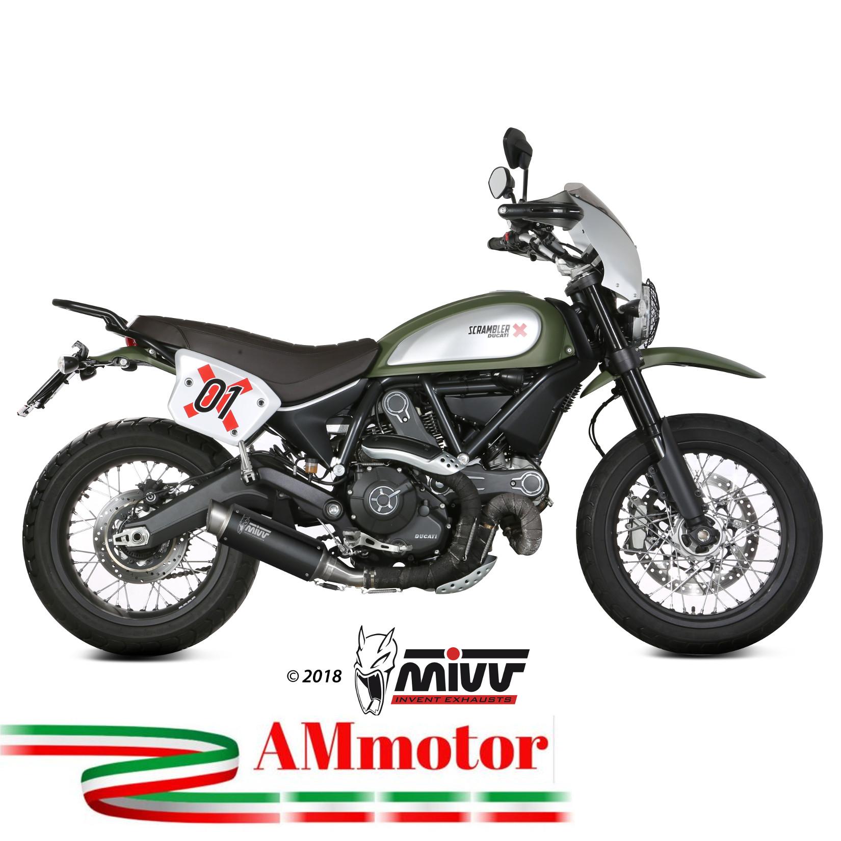 Exhaust Muffler Mivv Ducati Scrambler 800 2018 18 Gp Pro Black
