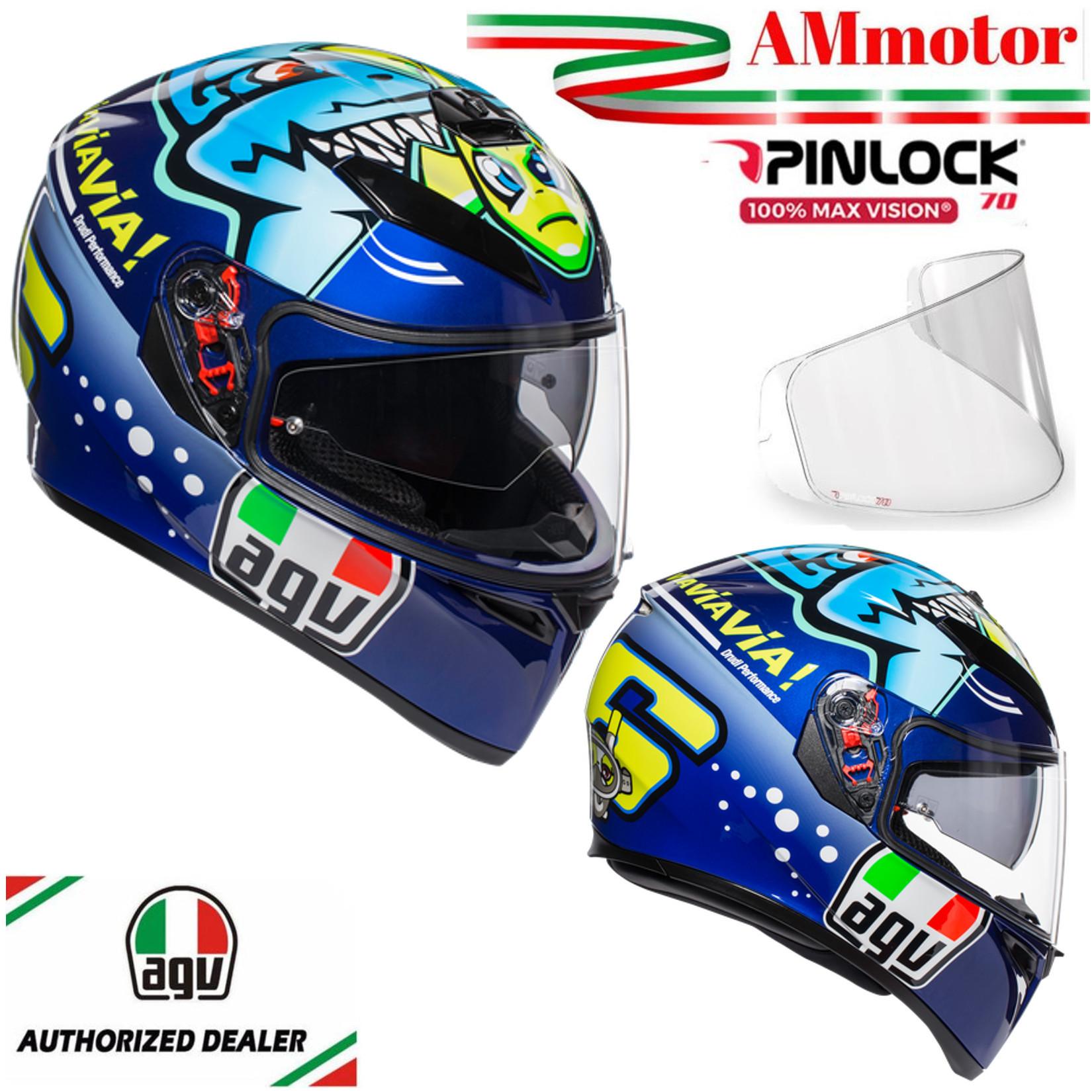 Casco Agv K3 Sv Top Misano 2014 Valentino Rossi MS 57 Pinlock Integrale Moto