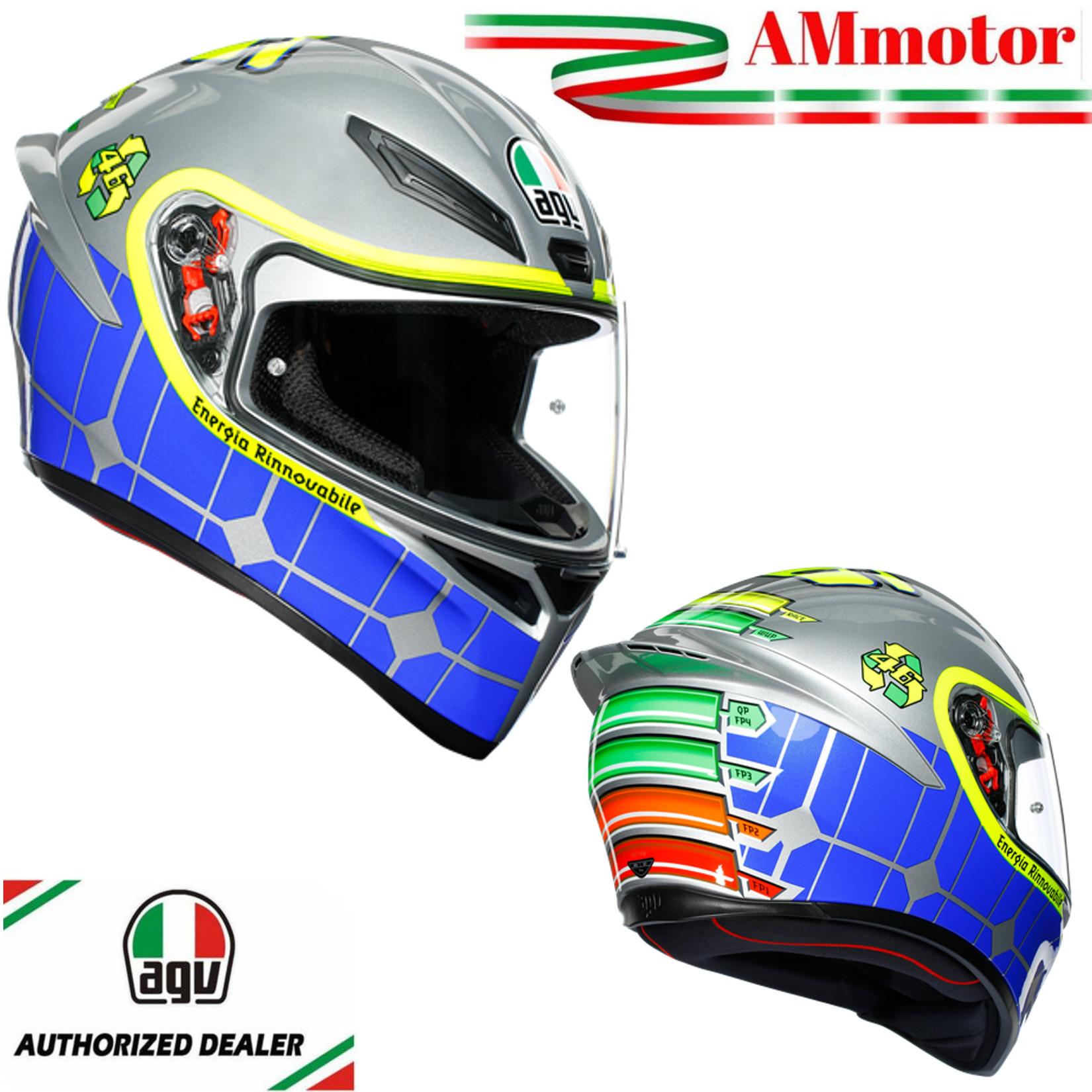 Helmet Valentino Rossi Agv K1 Mugello 2015 Full Face Size S 55 Motorcycle Road Ebay