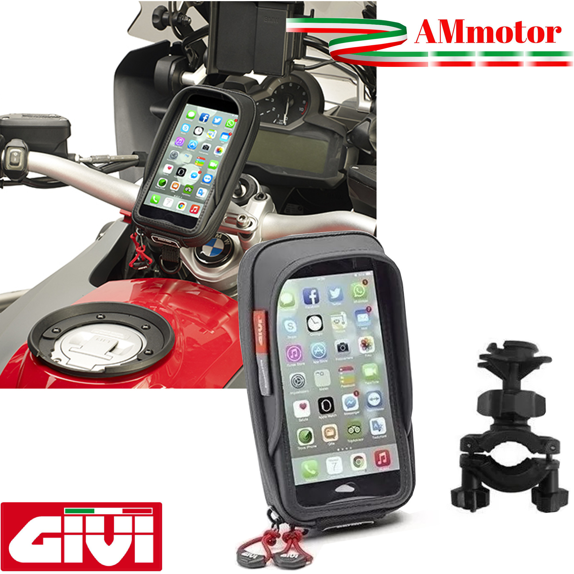 QUAD LOCK Kit Supporto Universale per Specchietto Cover iPhone 7